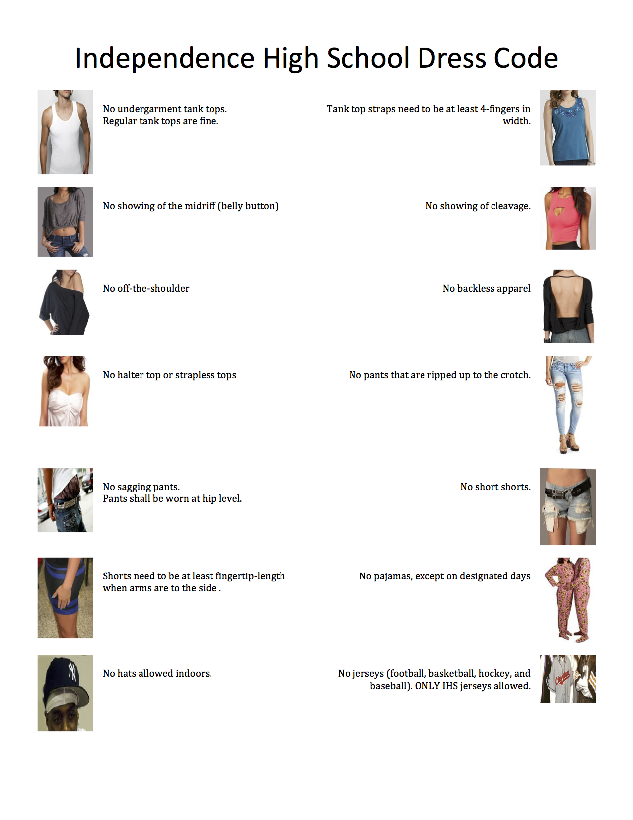 IHS Dress Code explaned